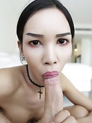 Thai Ladyboy Fashionista Sucks White Tourist Cock
