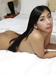 Hot 20yo Thai Ladyboy Gets Her Ass Worked Out By Big White Cock